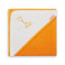 Badcape  Oranje-Wit met Giraf
